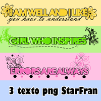 Texto png by StarFran