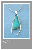 Forged Turquoise Pendant by SongBird55