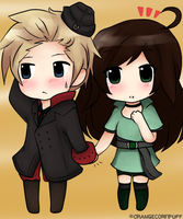 Requested: Hetalia Denmark and Brazil by OrangeCornPuff