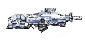 Concept Assault Rifle by Karnivorous