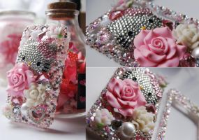 Kawaii Pink Hello Kitty Decoden Cell Phone Case by puredelusions