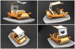 Flintstones Car by fabriciocampos