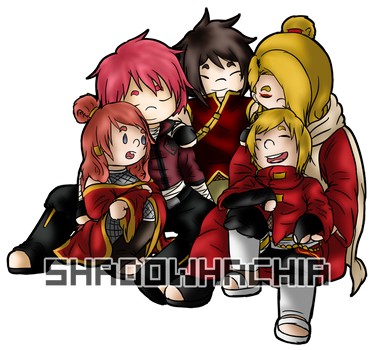 N: Red Sand Family by ShadowHachia