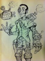 Steampunk Korey and Cohost by DiegoE05