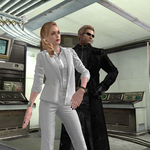 White Wesker and Black Wesker by Hatredboy