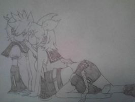 Lovey Dovey Len and Rin by KarenElricKagamine