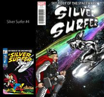 Silver Surfer #4 Re-Vamp by iamherecozidraw