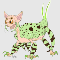Robotic Candy Sphynx by Rodent-blood