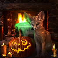 Halloween fox by 4steex
