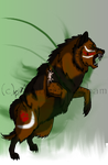 Deluman -- Leader of the Canid Clan by The-Bone-Snatcher