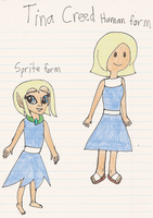Tina Creed in my style and Adventure Time style by Magic-Kristina-KW