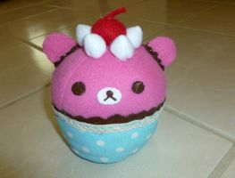 Rilakkuma Cupcake Plush by razzmicstrawberry