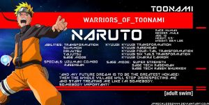 Warriors of Toonami: Naruto Uzumaki by JPReckless2444