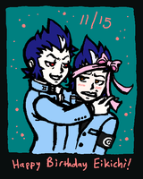Happy Birthday Eikichi by WafflesMcCoy