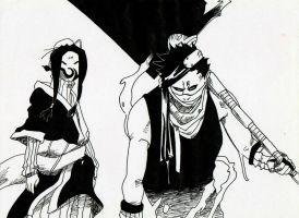 Haku and Zabuza from Naruto Unleashed (manga) by Acey-kakarot-michael