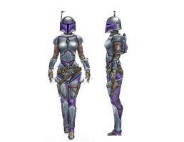 Female Bounty Hunter Design by JakeGreen
