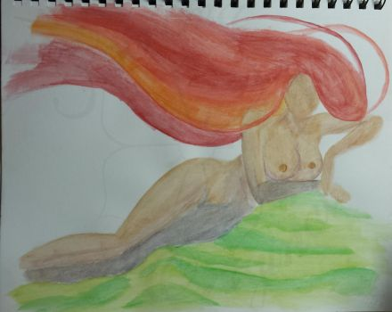 Reclined woman by Kiroma