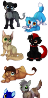Chibi freebies by Searii