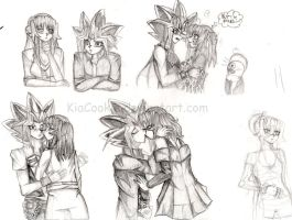 Sacredshipping Moments Sketches by KiaCookie