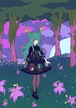 Menthe Chocolat - Animal Spirits Illustration PINK by Ultra-Violette