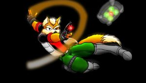 Star Fox attacking by Blucaracal