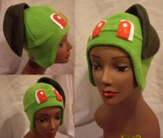 Chikorita Hat by FleeceMonster