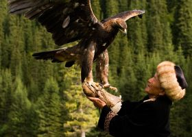 The Eagle Man in Kyrgyzstan by rjmcpher