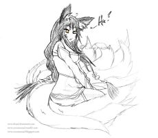 Ahriiii, the nine tail-Fox by FuSSsL