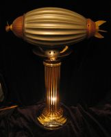 Steampunk Airship Trophy Lamp by RiverOtterWidget