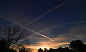 Sunrise N Jet Streams by Tailgun2009