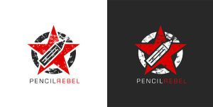 Pencil Rebel logo by 9gods