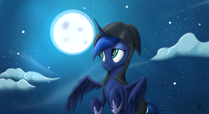 Luna's Night Sky by killamnjaro