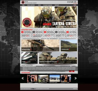 WEB for Army Academy by m-deviant