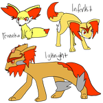 [CE]:: Fennekin Evolution Line by Silvaina
