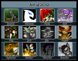 Summary of Art 2012 for Rooke by DragonwolfRooke