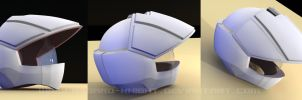 macross pilot helmet 3D by asgard-knight