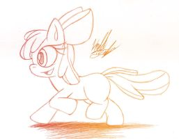 Sketch: Apple Bloom by Fuzon-S