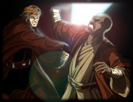 Skywalker VS Windu by WISHKER