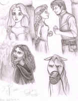 Tangled sketches by CoolCatFlora