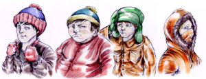 SOUTH PARK KIDS by ECTO87