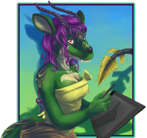 Tarli with Tablet by sugar-cat-candy