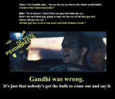 Gandhi Was Wrong! by XMeryHeartlessX