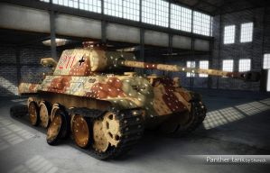 Panther tank. Sketchup model by shareck