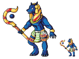 SMITE: Anubis Sprite by ThumbzDown