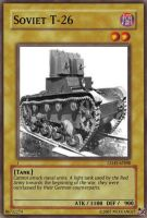 Soviet T-26 Tank card by Mexicano27
