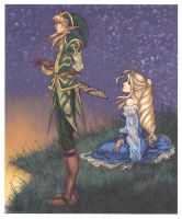 Link and Zelda Forever (2004) by La-Nora