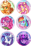 My Little Pony - Motivational Ponies Stickers by PurpleNightTheKitty
