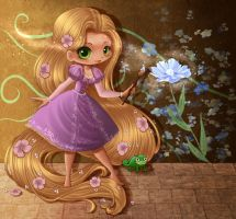 Disney's Rapunzel Colour by ChildOfMoonlight