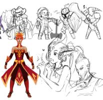 dota2 - sketch dump 01 by spidercandy