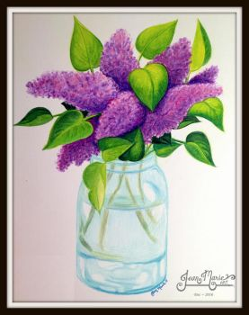 Ashley's Lilacs - Dec 2016 by JeanMarieArt